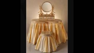 bedroom vanity chairs with skirt