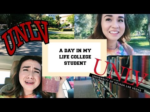 A DAY IN THE LIFE OF A COLLEGE STUDENT // UNIVERSITY OF NEVADA LAS VEGAS