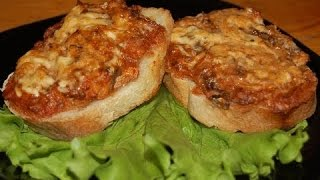ГОРЯЧИЕ БУТЕРБРОДЫ С БЕКОНОМ И СЫРОМ. Супер быстрый и вкусный рецепт бутербродов с беконом.