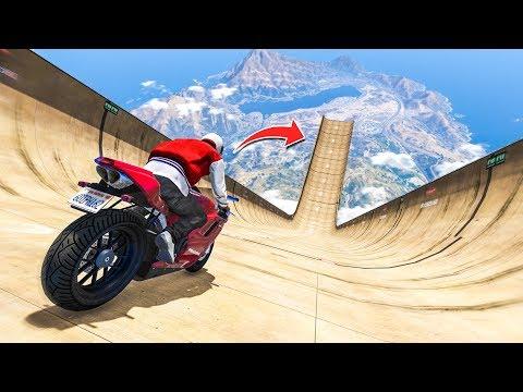 EPIC MEGA RAMP STUNT CHALLENGE! - (GTA 5 Stunts & Fails)