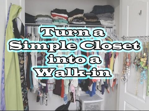 How to turn a small closet into a walk in youtube for Adding a walk in closet