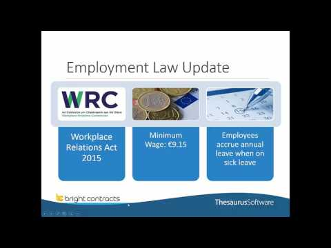Irish Employment Law Overview - Provide a value added service for your clients