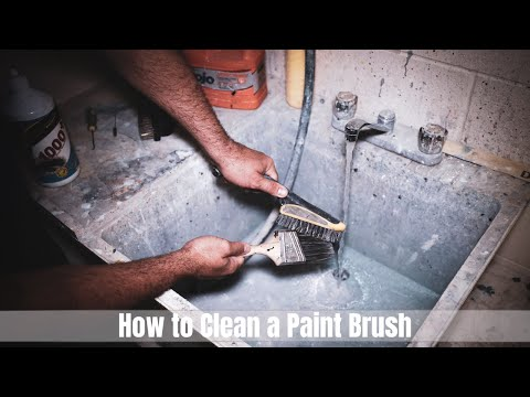 How to clean a paint BRUSH (Latex Paint)... PROPERLY! - Tutorial, T2