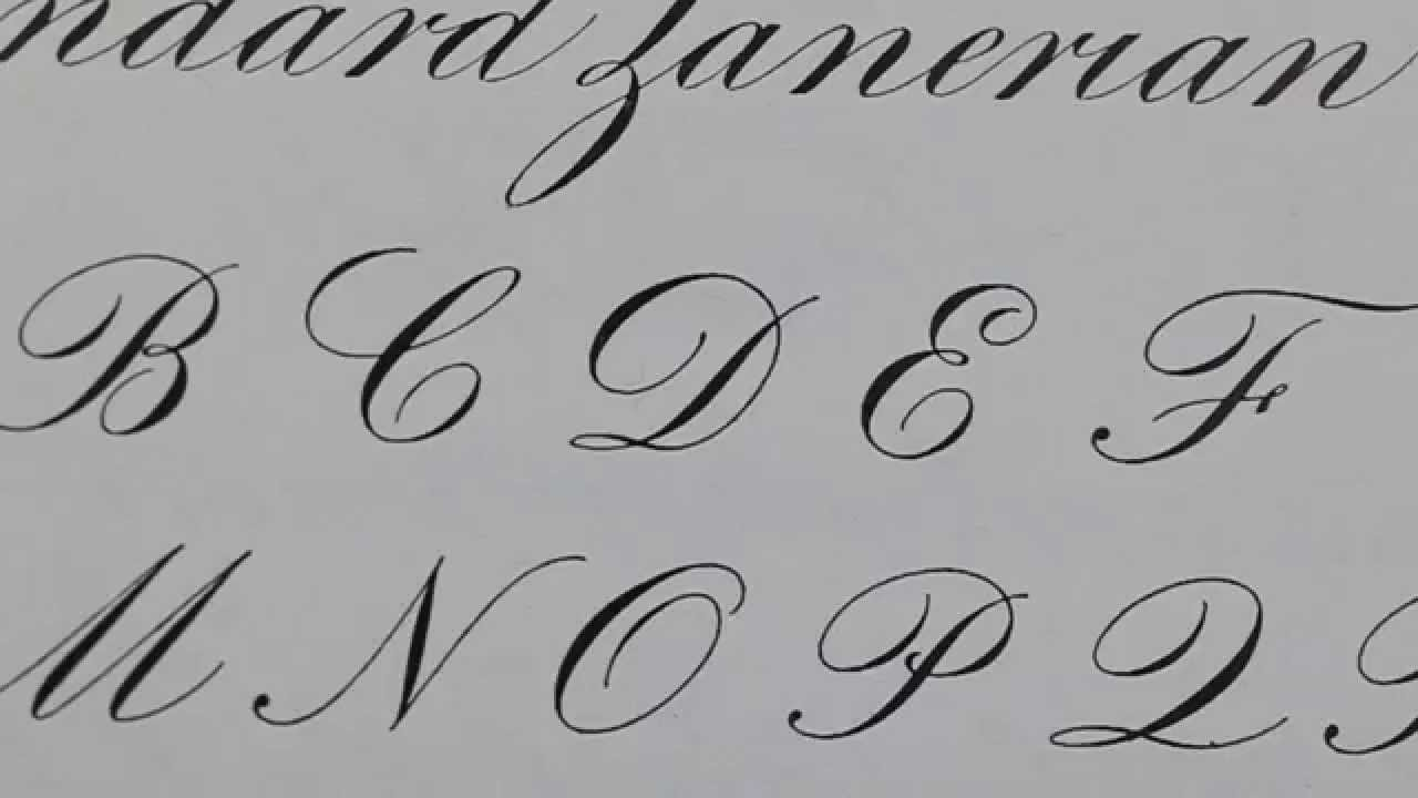 Pics For Copperplate Calligraphy Alphabet