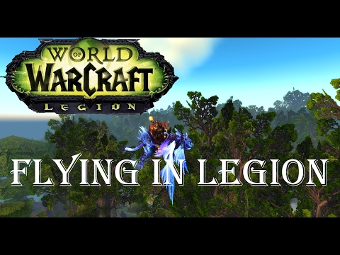 Wow-Legion-Unlocking Flying in the Broken Isles