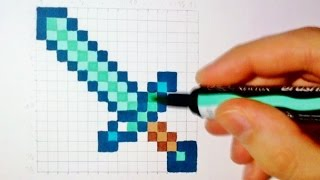 Pixel Art : How to draw a Minecraft Sword