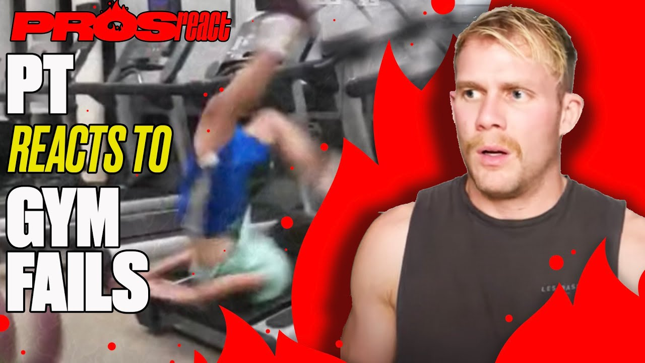 Personal Trainer Reacts To Gym Fails | Pros React | LADbible