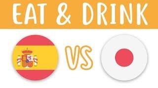 What We Eat And Drink: Spain VS Japan - Superbeginner Spanish - Daily Life #19