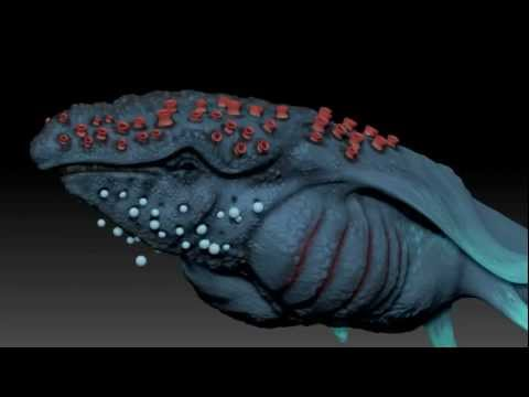 Mystery Prehistoric Whale ZBrush Design