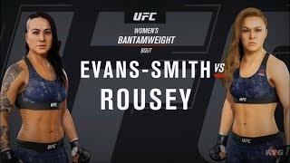 EA Sports UFC 3 - Ashlee Evans-Smith vs Ronda Rousey - Gameplay (HD) [1080p60FPS]