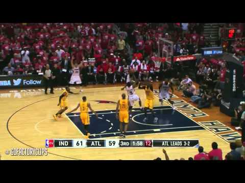David West vs Paul Millsap Full Duel Highlights 2014 Playoffs East R1G6 - Pacers at Hawks