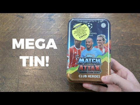 MEGA TIN OPENING! Match Attax 2017/18 Champions League