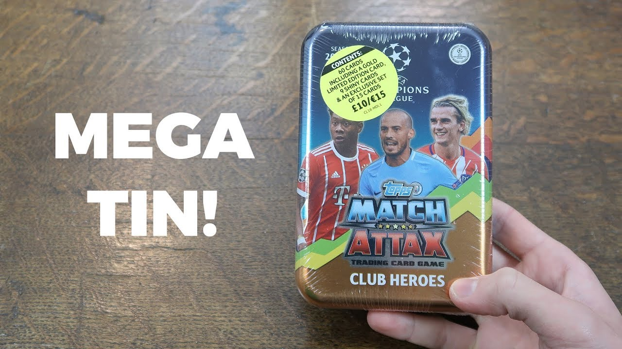 Mega Tin 2020 Card List.Mega Tin Opening Match Attax 2017 18 Champions League