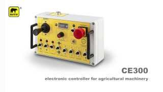 TX191R transmitter and CE300R electronic controller for any agricultural machinery application