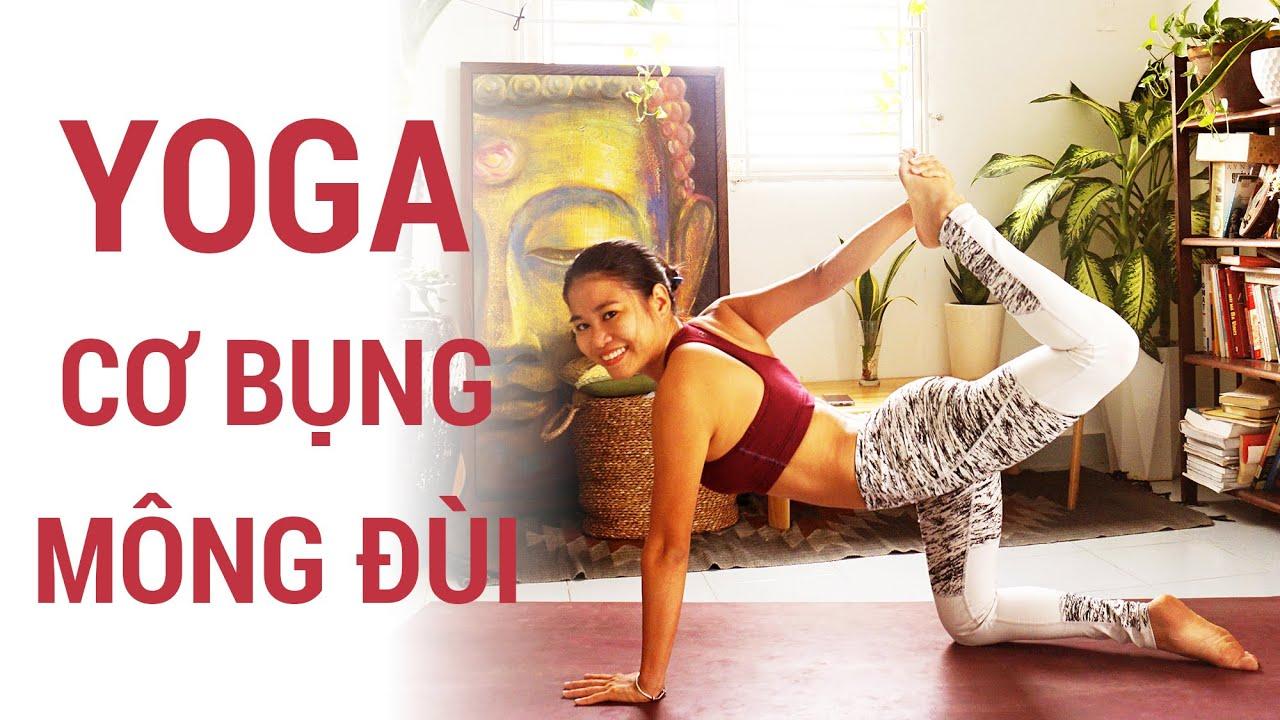 Yoga cho cơ bụng mông đùi | Yoga giảm cân, săn chắc toàn thân đón Noel | Yogi Travel