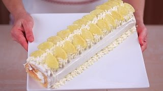 ROTOLO AL LIMONE FATTO IN CASA DA BENEDETTA Ricetta Facile - Lemon Cake Roll Easy Recipe