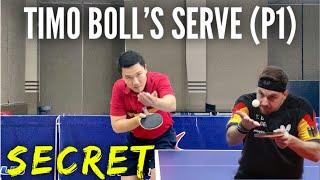 Timo Boll's Forehand Pendulum Serve Secrets and Tutorials (Part 1)