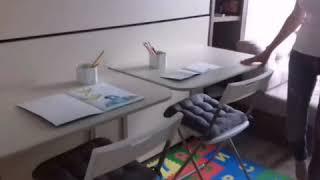 До и После комната - трансформер 12 кв. для семьи с 2 детьми! #комнататрансформер #шкафкровать