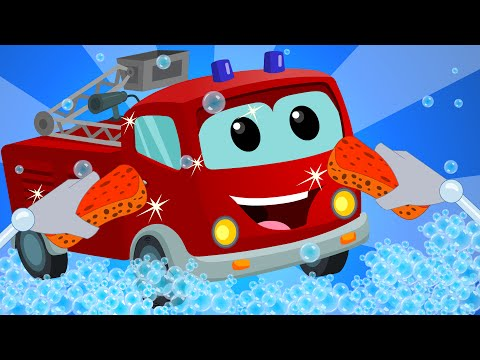 Fire Truck | Car Wash | baby video | learn vehicles | truck