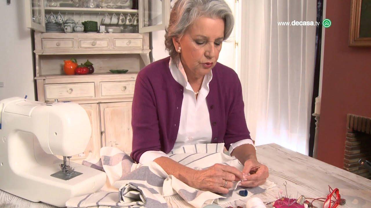 C mo hacer un mantel con pa os de cocina en ideas decorativas con lilla moreno youtube - Ideas para hacer manteles ...