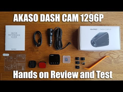 AKASO Dash Cam 1296P FHD, GPS, G-Sensor, WIFI With Phone APP [Hands On Review And Test]