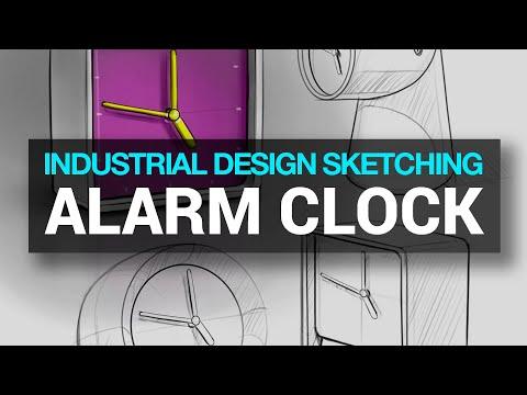 INDUSTRIAL & PRODUCT DESIGN SKETCHING : Ep. 33 - DESK CLOCK (Timelapse) #industrialdesignsketching