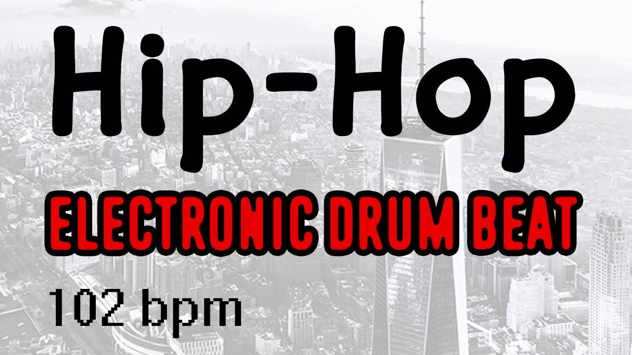 Hip-Hop Electronic Drum Track - TR 808 - 102 BPM