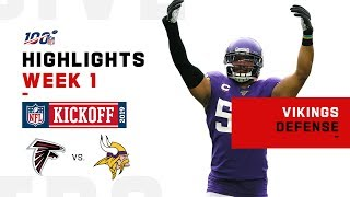 Vikings Defense Nabs 2 INTs, 4 Sacks | NFL 2019 Highlights