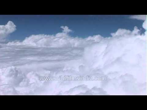 Into the clouds...flying in a plane