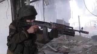 Зачистка Донецкого аэропорта от Киборгов 15.01.2015 Съёмка боя!