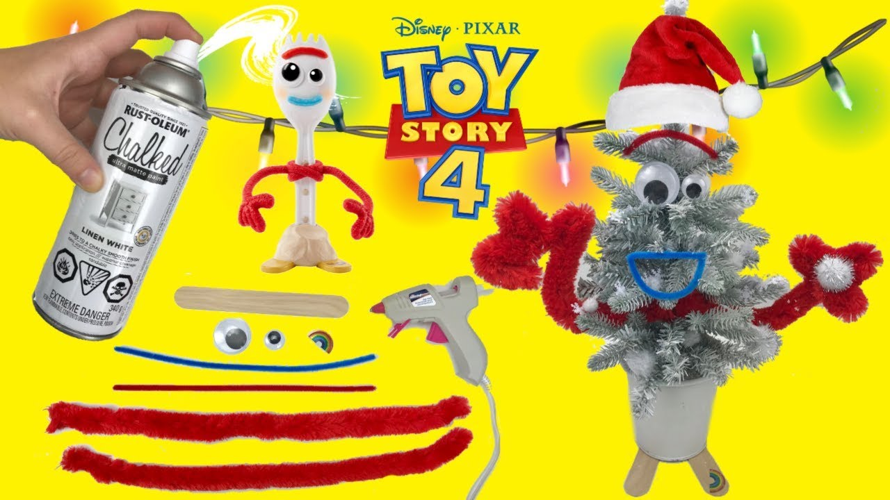 How To Make Forky Christmas Tree Toy Story 4 Easy Tutorial! DIY Disney Christmas Tree craft Toy Stor