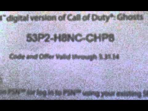 call of duty ghosts ps4 free redeem code