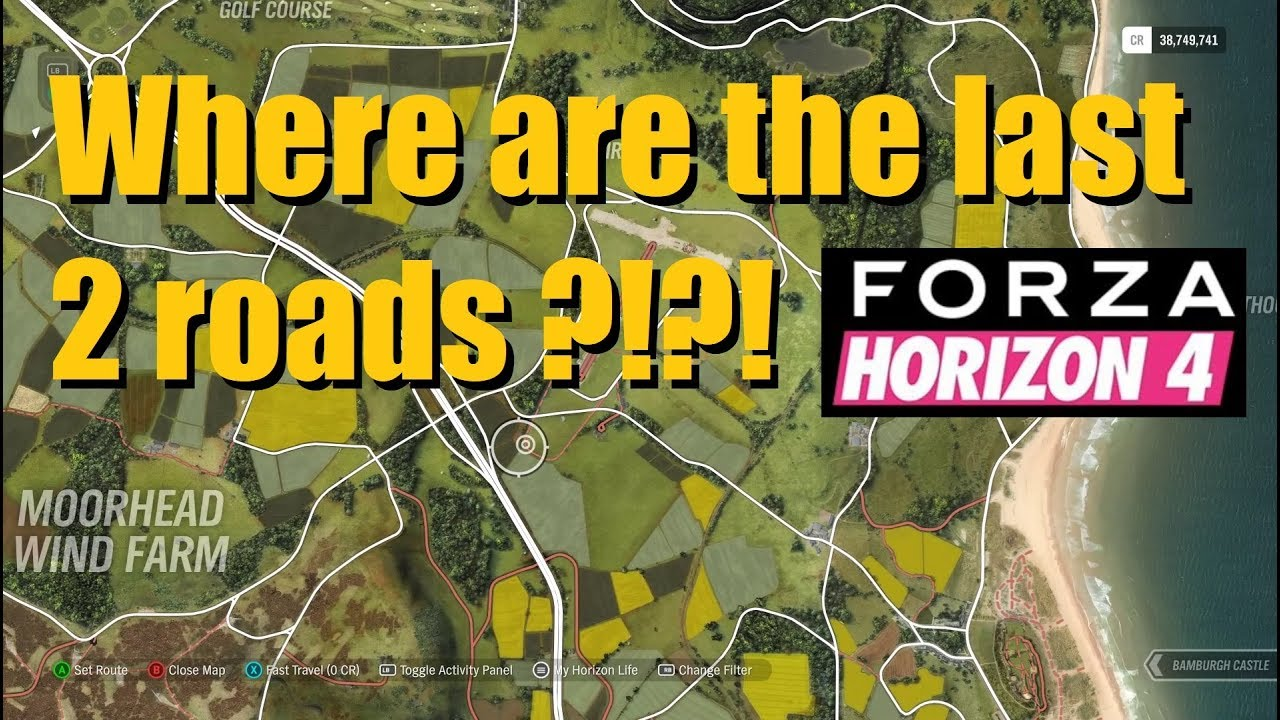 Forza Horizon 4 Finding the last 2 roads 531/531