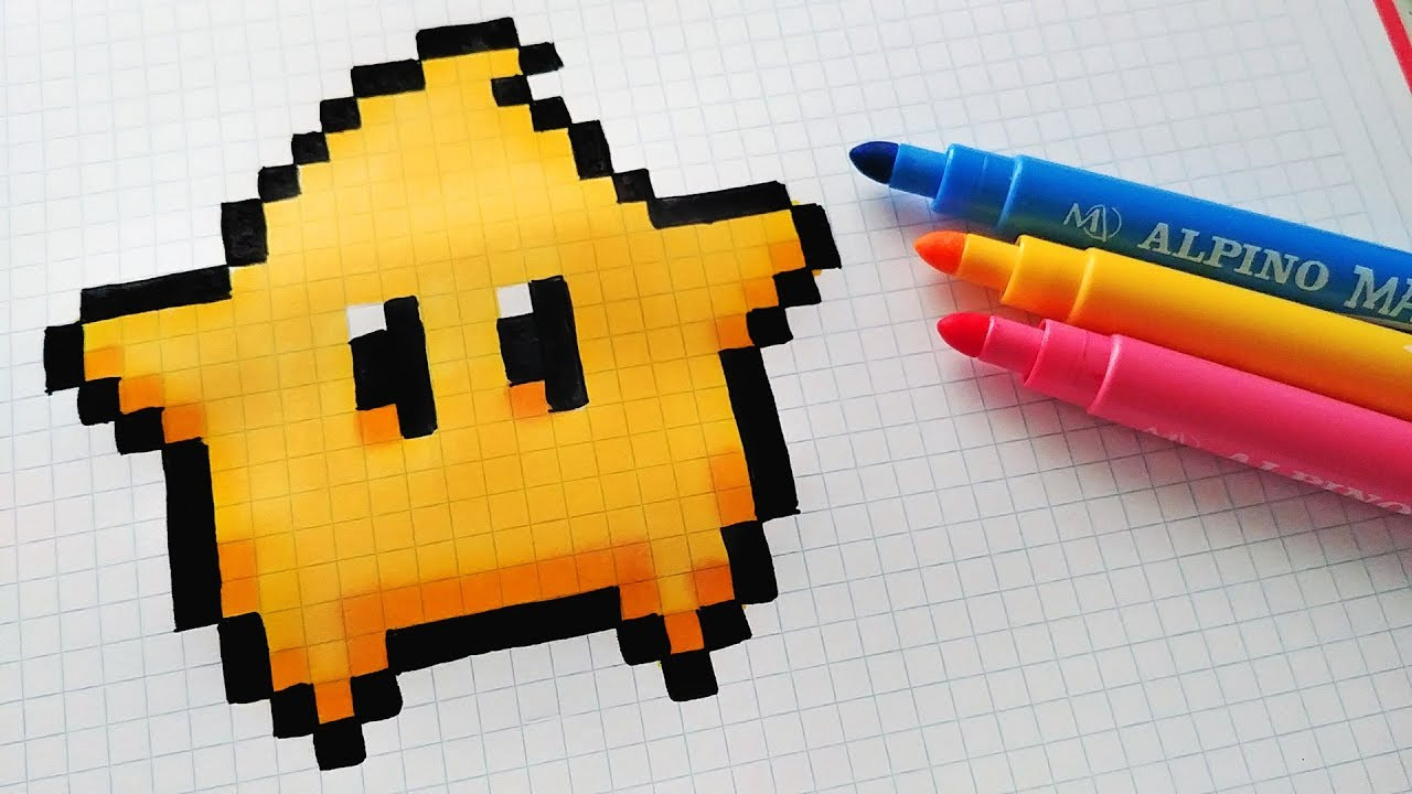 Handmade Pixel Art How To Draw Kawaii Star From Super Mario Pixelart