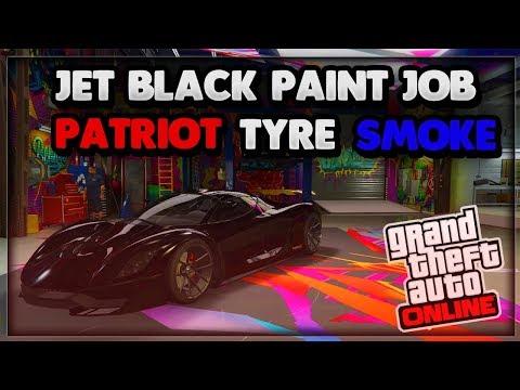 GTA5 Online ''HOW TO GET JET BLACK CREW COLOUR & PATRIOT TYRE SMOKE'' (1.40)
