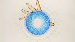 How to draw Rasengan - Step By Step (Tutorial)