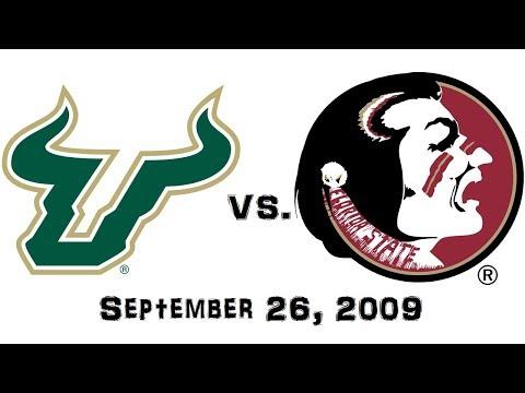 September 26, 2009 - South Florida Bulls Vs. #18 Florida State Seminoles Full Football Game