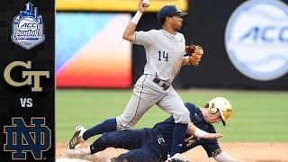 Georgia Tech vs. Notre Dame ACC Baseball Championship Highlights (2019)