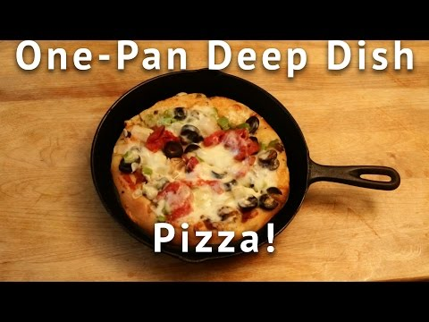One Pan Deep Dish Pizza Recipe Video -- Don't Forget the Eggs!