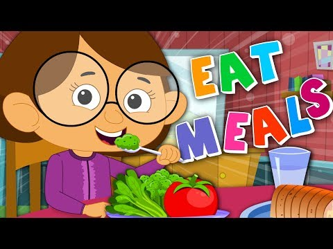 I Always Eat My Meals | Food Song | Nursery Rhymes | Kids Rhyme