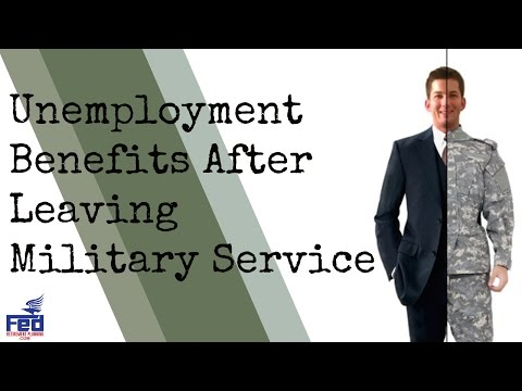 Unemployment Benefits After Leaving Military Service