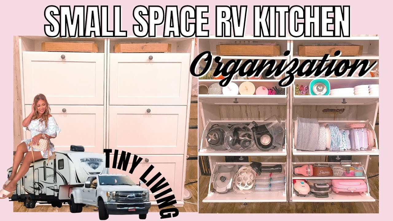 Small Space Rv Kitchen Organization Ideas Tiny Living Rv Storage Hacks On A Budget Youtube