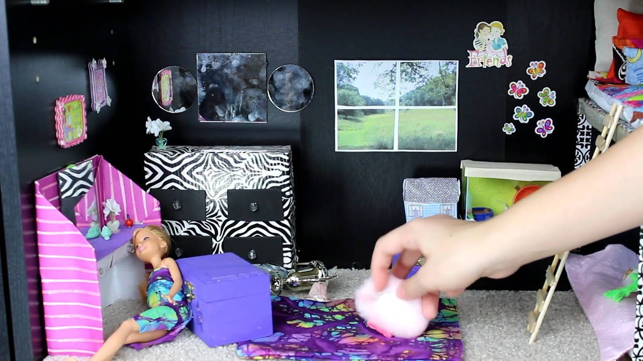 Custom barbie house with homemade toys youtube for Home styles com