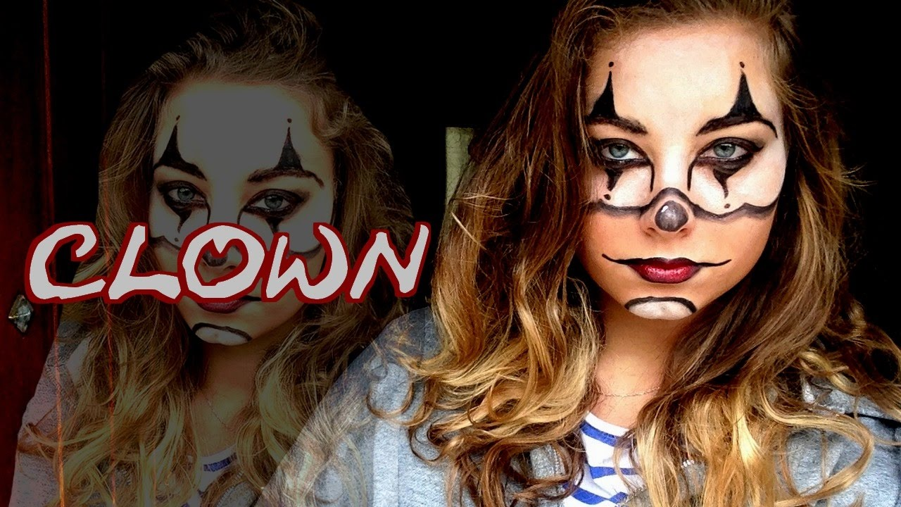 clown maquillage halloween youtube. Black Bedroom Furniture Sets. Home Design Ideas