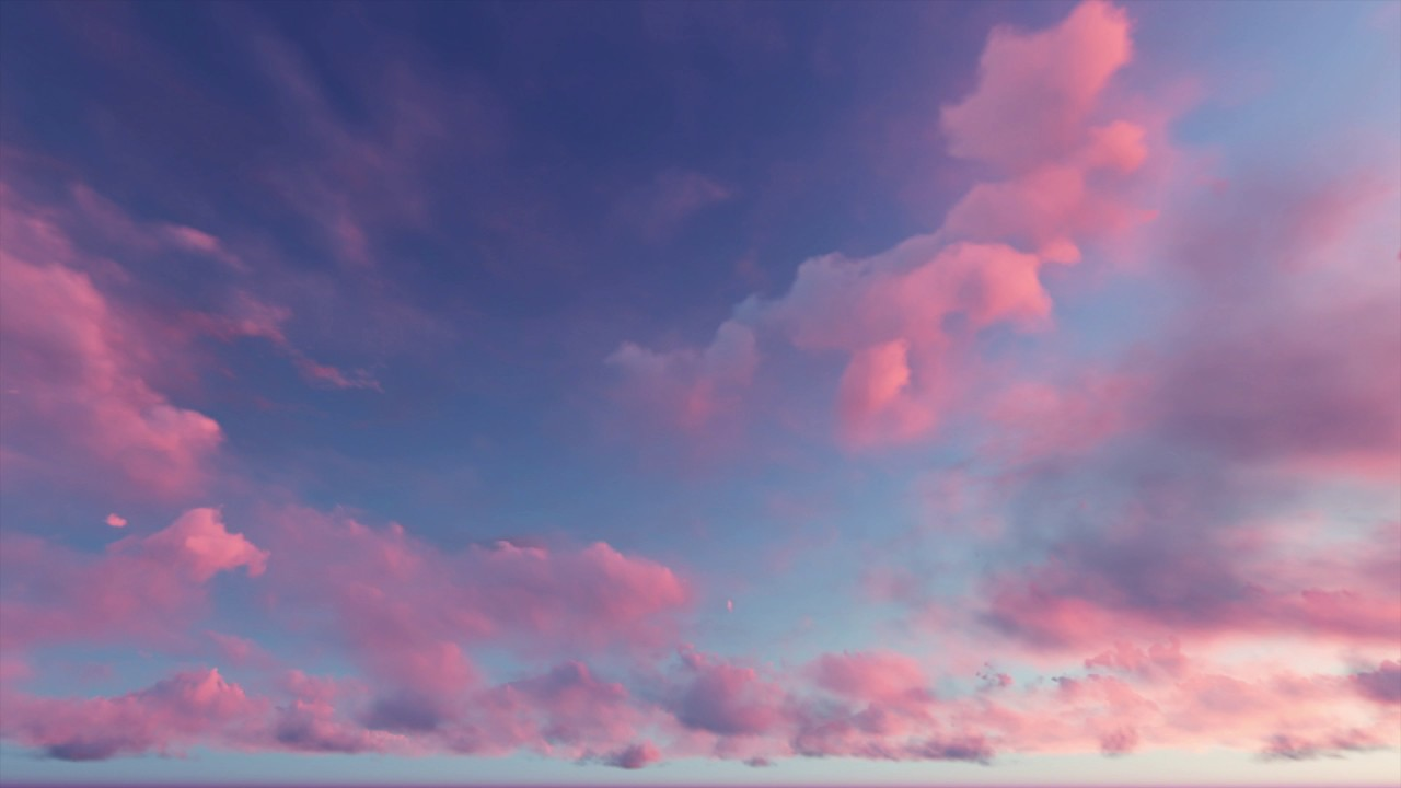 24 Im Tv ( Cgi 4k Stock Footage ) Dusk Sunset Clouds 3 - Time Lapse
