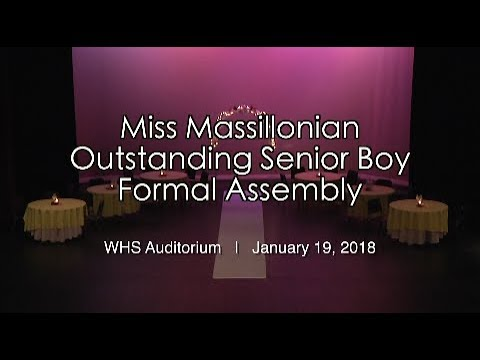 1.19.2018: Miss Massillonian / Outstanding Senior Boy Programs