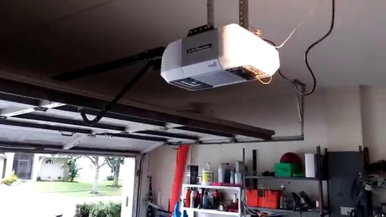 8355 liftmaster opener on the overhead door  YouTube