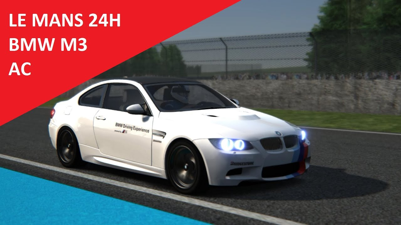 assetto corsa bmw m3 le mans 24h youtube. Black Bedroom Furniture Sets. Home Design Ideas