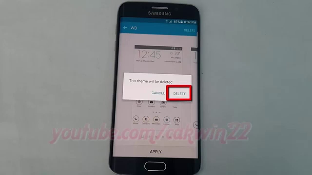 Android lollipop how to delete theme on samsung galaxy s6 youtube ccuart Choice Image