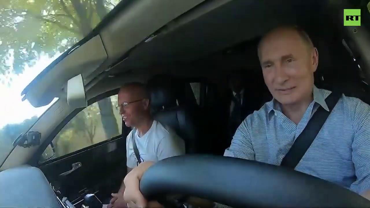 «Надо пристегнуться»  Путин за рулём Aurus открыл движение по крымской трассе «Таврида»